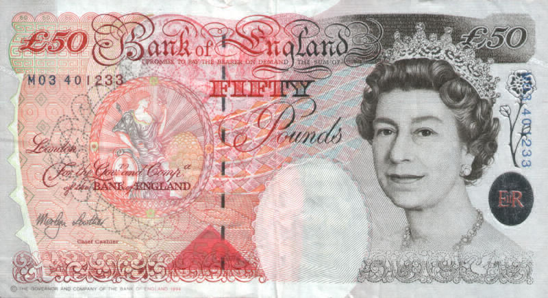 Old Fifty Pound Note
