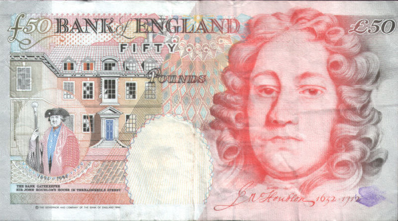 Old Fifty Pound Note rear