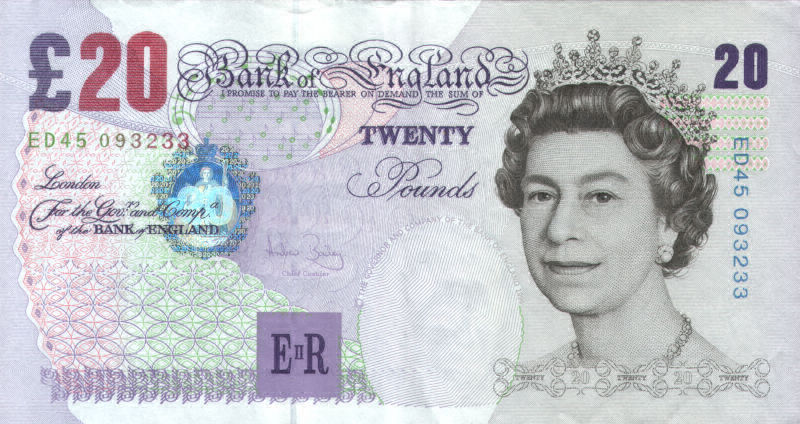 Old Twenty Pound Note